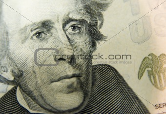 20 Dollar Bill Close Up