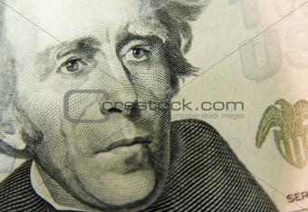 20 Dollar Bill Close Up