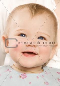 The babe smiles