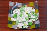 Plate with petals