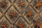 Star anise on old wood