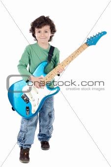 Boy whit electric guitar