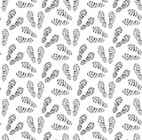 Footprints of shoes seamless pattern. Traces of footwear endless background. Shoes repetitive texture. Vector illustration.