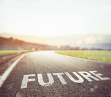 Road leading to the future
