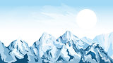 Horizontal mountain background