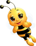 Beautiful cute bee