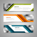 Collection banners with abstract colored stripes
