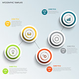 Info graphic with round colored design points template