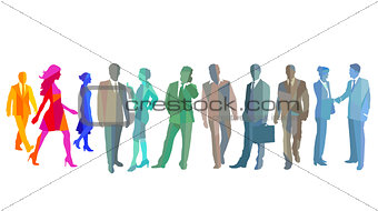 Group of different business people