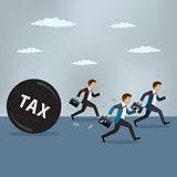 Businessmen run away from heavy tax.