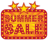Retro Marquee Summer Sale Sign Illustration