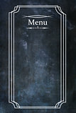 Menu over Chalkboard Texture Background