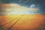 Vintage textured desert landscape