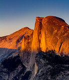 Sunset at Half Dome, Yosemite National Park