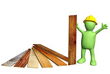 Builder with new parquet planks