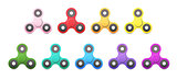 Set of Spinners Relaxing Trend Toy for Children and Adults.
