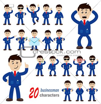 20 businessman characters