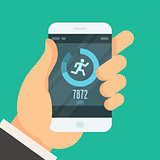 Smartphone fitness tracker app  - lose weight