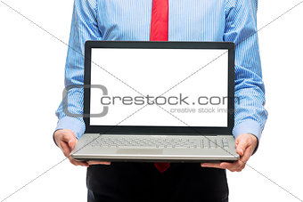 Business concept - laptop with space on the screen for writing