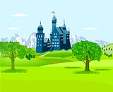 Castle in the countryside