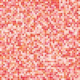 Red vector tiles mosaic background