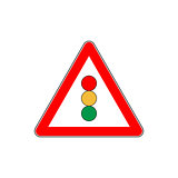 Road sign traffic light vector