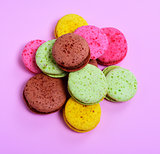 bunch of multicolored macaroons