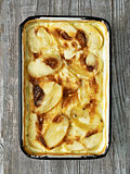 rustic golden scalloped potato gratin dauphinois