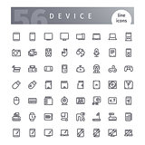 Device Line Icons Set