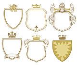 6 Princely coat of arms and shields