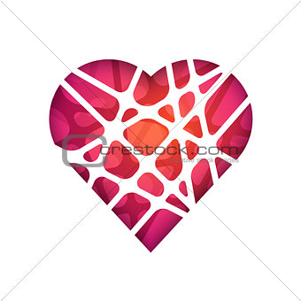 Abstract vector polygonal heart. Abstract Modern Geometrical Design Template.