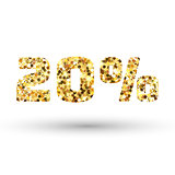 Gold glitter vector texture. Golden sparcle background. Amber particles. Luxory backdrop.