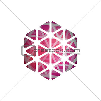 Abstract vector polygonal shape. Abstract Modern Geometrical Design Template.
