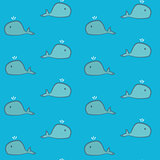 Cute cartoon whales pattern