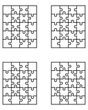 puzzles, separate pieces