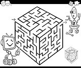 maze with robots for coloring