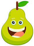 cartoon pear fruit character