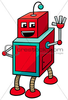 cubical robot cartoon character