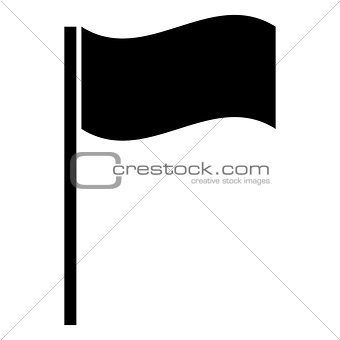 Flag the black color icon .