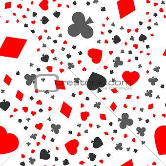 cards seamless pattern