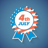 USA Independence Day award icon or banner