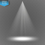 Vector spotlight on transparent background. Light effect