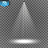 Vector spotlight on transparent background. Light effect