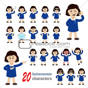 20 businesswoman characters