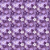 Seamless floral pattern in lilac colors