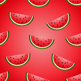 Seamless vector fun watermelon hand drawing imitation juicy background