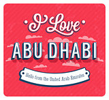 Vintage greeting card from Abu Dhabi - United Arab Emirates.