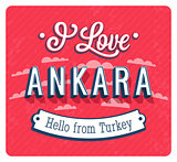 Vintage greeting card from Ankara - Turkey.