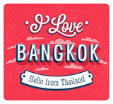Vintage greeting card from Bangkok - Thailand.