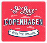 Vintage greeting card from Copenhagen - Denmark.